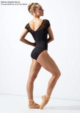 Maillot de encaje con manga corta Alana Move Dance