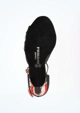 Zapatos de Baile Serpiente Sapphire Rummos 7cm Negro-Rojo #3. [Negro-Rojo]