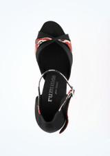 Zapatos de Baile Serpiente Sapphire Rummos 7cm Negro-Rojo #2. [Negro-Rojo]