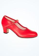 Zapatos de Flamenco Con Hebilla Intermezzo Rojo. [Rojo]