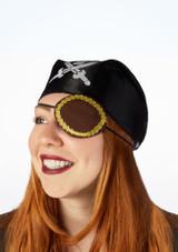 Parche de ojo pirata dorado Marrón superior. [Marrón]