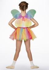Conjunto de tutu y alas de hada Multicolor trasera. [Multicolor]