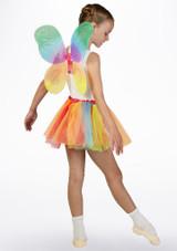 Conjunto de tutu y alas de hada Multicolor lateral. [Multicolor]