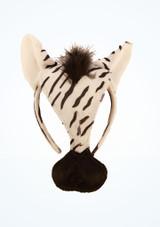 Careta de cebra Negro-Blanco frontal. [Negro]