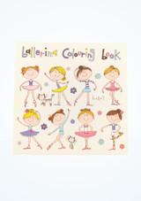 Libro para colorear Ballerina Nina Rosa frontal. [Rosa]