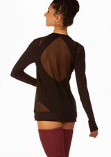 Camiseta Danza Karen con Espalda de Malla So Danca Negro trasera. [Negro]