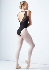 Maillot sin mangas con espalda abierta y escote en V Mirella