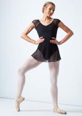 Falda de cintura elástica con malla de encaje Mirella