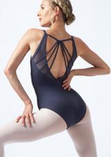 Maillot camisola con escote redondo y espalda profunda en V Mirella