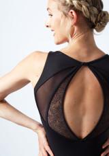Maillot de malla con cuello alto y abertura en la espalda Mirella
