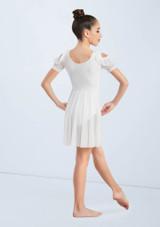 Weissman Cold Shoulder Ruffle Dress