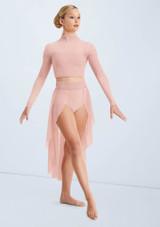 Weissman Mesh Skirt With Lace Waistband