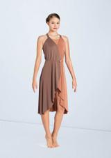 Weissman Two Tone Midi Wrap Dress