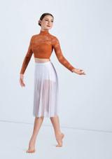 Weissman Long Sleeve Lace Crop Top