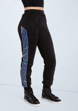 Weissman Hologram Stripe Jogger Pants