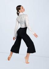 Weissman Metallic Lace Button Up Shirt