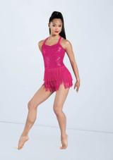 Weissman Camisole Sequin Fringe Dress