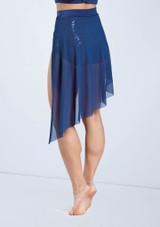 Weissman Sequin Lace Back Panel Skirt