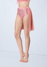 Weissman Sequin Mesh Back Panel Skirt