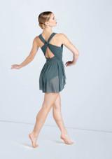 Weissman Crossover Mesh Sequin Dress