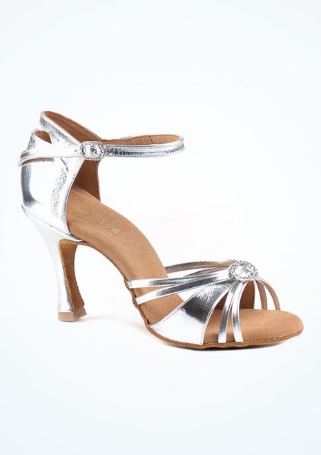 Zapatos de Baile Elite Bella Rummos 7,6cm Plata. [Plata]
