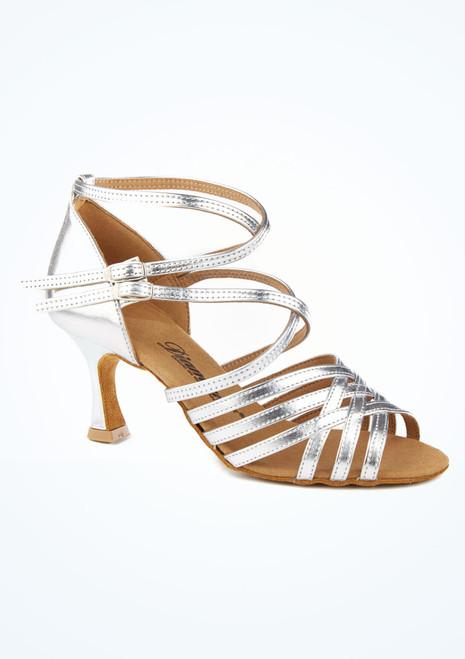 Zapato de latino y salsa Rina Diamant 6,3cm Plata. [Plata]