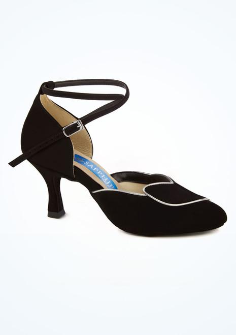 Zapato de salon y latino Hyacinth con contraste 5 cm Ray Rose Negro imagen principal. [Negro]