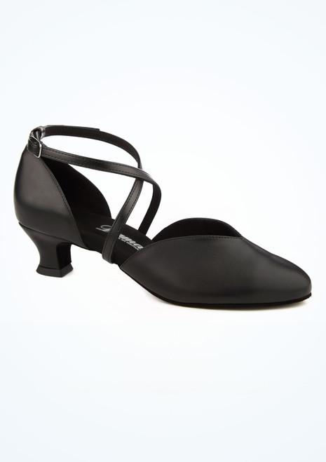 Zapato V-Cut Vamp para salon y latino 4,2 cm Diamant Negro imagen principal. [Negro]