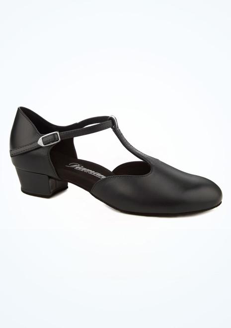 Zapato T-Bar para salon 2,54 cm Diamant Negro imagen principal. [Negro]