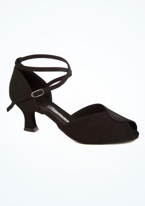 Zapato salon y latino cruzado con puntera abierta 5 cm Diamant Negro imagen principal. [Negro]