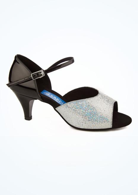 Zapato de latino Pegasus holografico 5 cm Ray Rose Negro imagen principal. [Negro]