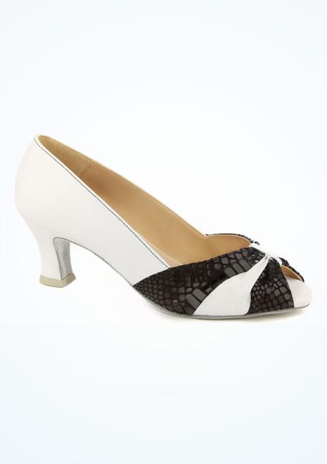 Zapato de salon y latino con puntera plegada 5 cm Ray Rose Blanco imagen principal. [Blanco]