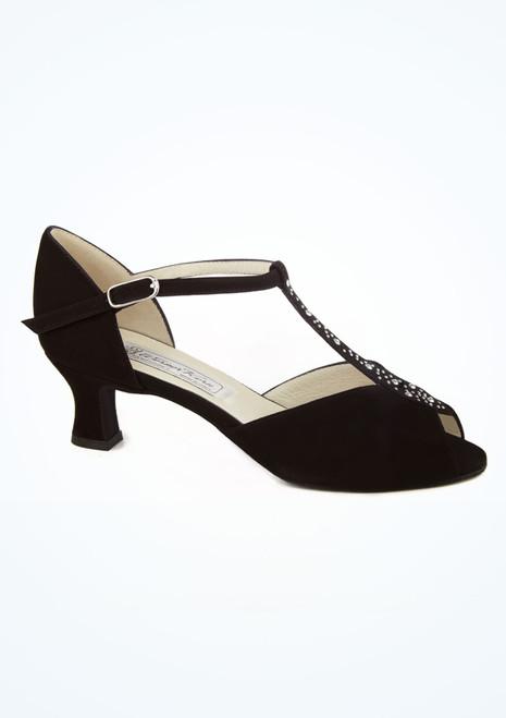 Zapato Claudia de salon y latino con T-Bar 6 cm Werner Kern Negro imagen principal. [Negro]