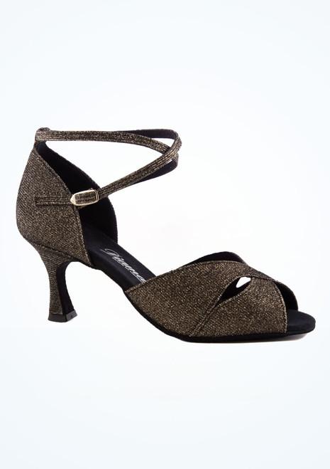 Zapato de baile Shimmer de 6.5 cm Diamant Negro-Oro imagen principal. [Negro-Oro]