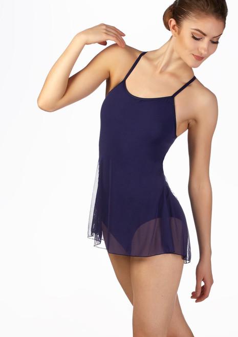 Maillot vestido de tirantes Ballet Rosa Azul frontal. [Azul]
