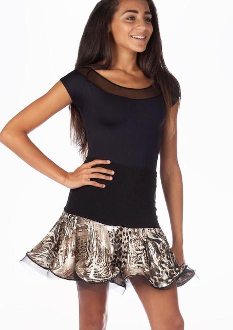 Falda de Baile Elyse Move Dance Negro-Multicolor. [Negro-Multicolor]