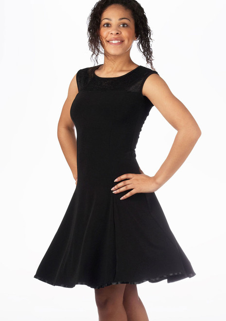 So Danca Vestido con encaje floral* Negro. [Negro]