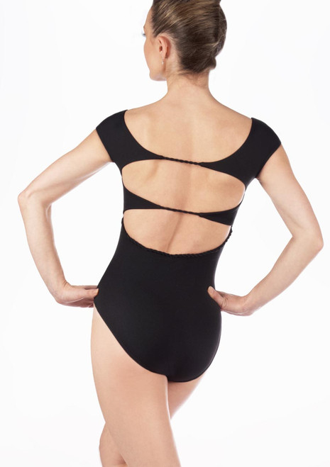Maillot Ballet Gwen Move Dance Negro trasera. [Negro]