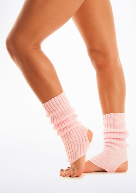 Calentadores con tira para el pie, 40 cm Rosa. [Rosa]