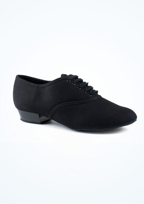 Zapatos caracter lona, modelo Oxford, chico Negro. [Negro]