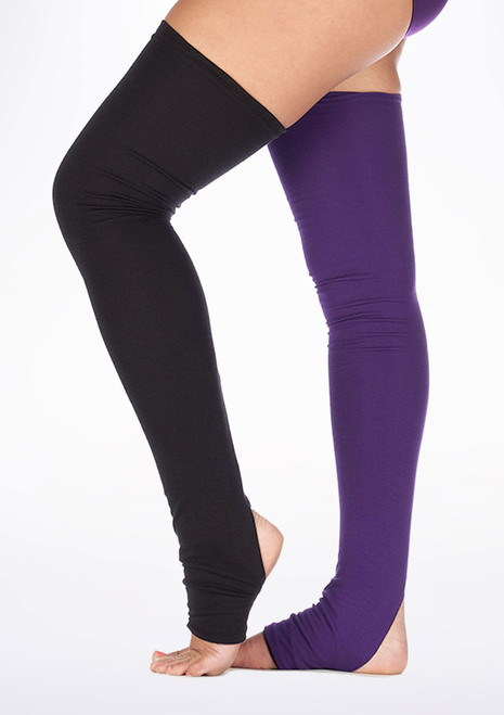 Dincwear Calentadores de piernas reversibles Black [Negro-Violeta]