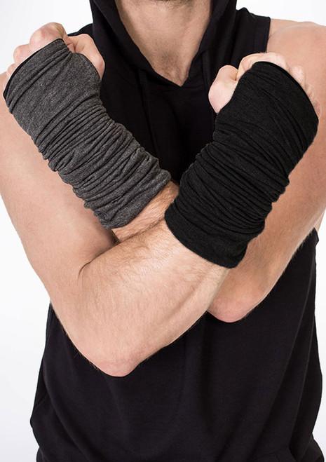 Calentador Baile de Brazos Reversibles Dincwear Negro-Gris. [Negro-Gris]
