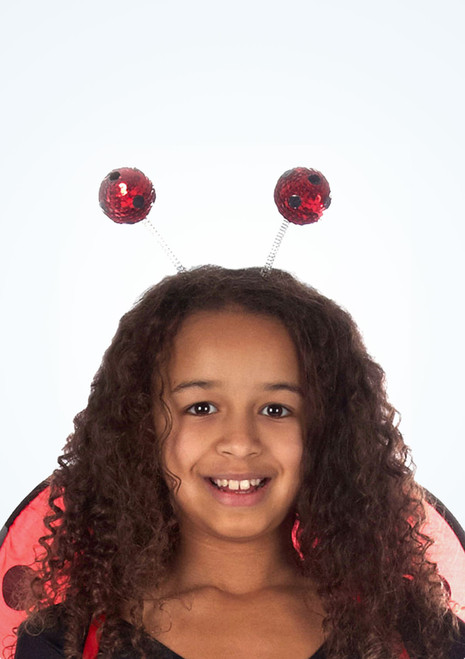 Antenas de mariquita Negro-Rojo. [Negro-Rojo]