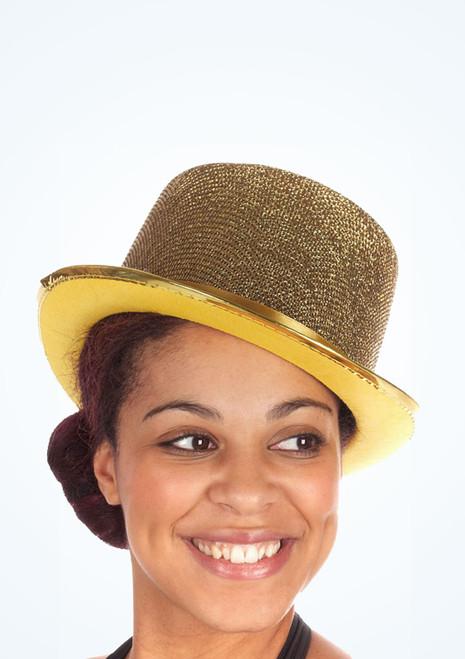 Sombrero de copa de lurex Oro. [Oro]