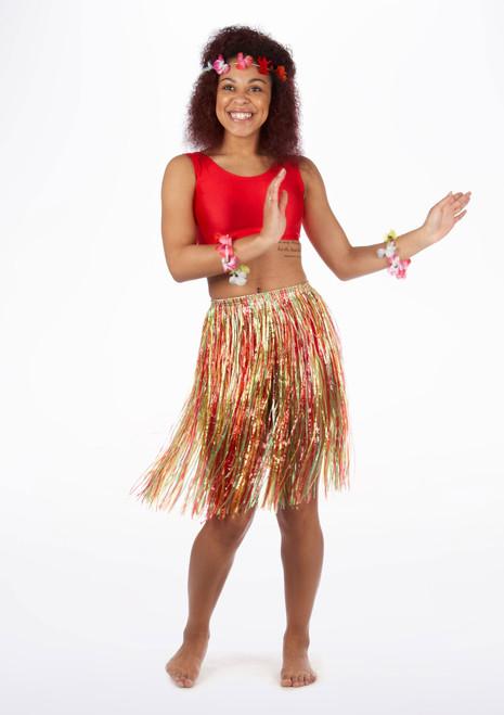 Falda de paja infantil multicolor. [Multicolor]