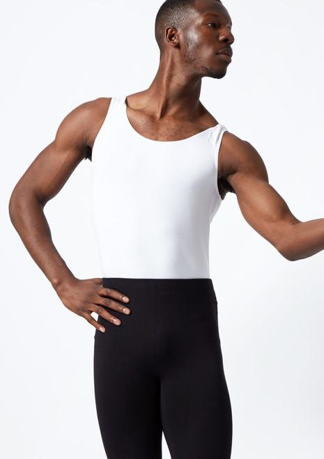 Maillot de Ballet Hombre Joshua Move Dance Negro frontal. [Blanco]