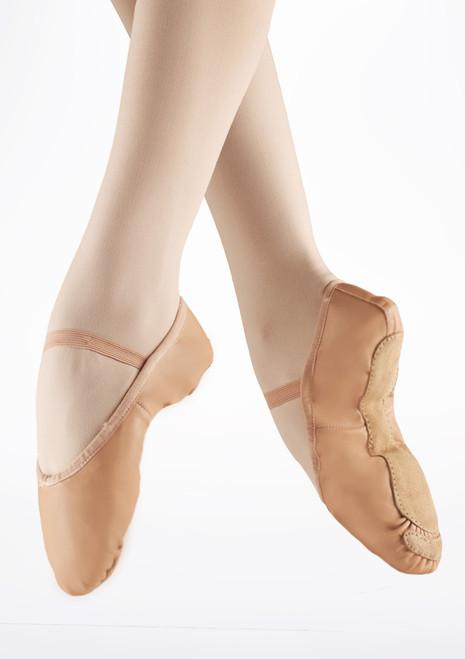 Alegra Zapatilla de ballet basica con suela entera Rosa. [Rosa]