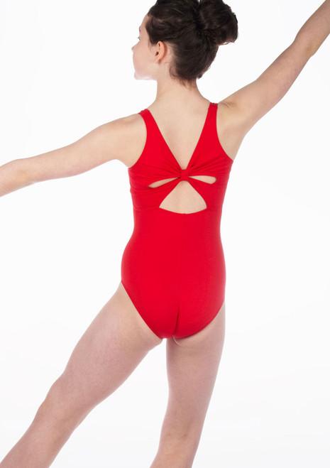 So Danca joven maillot con lazo Rojo. [Rojo]