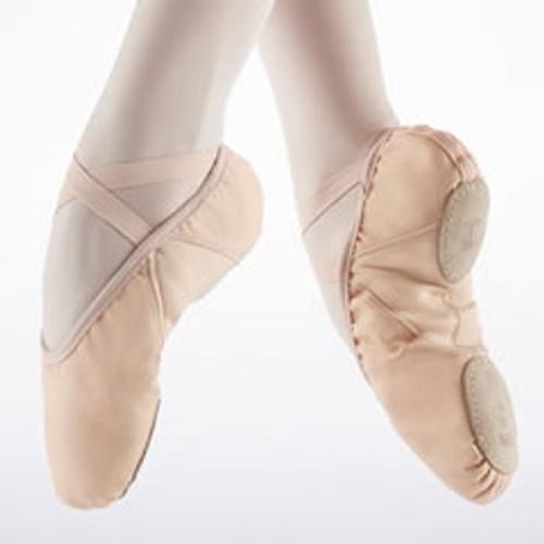 Zapatilla Pro de ballet suave con suela partida de Repetto Rosa. [Rosa]