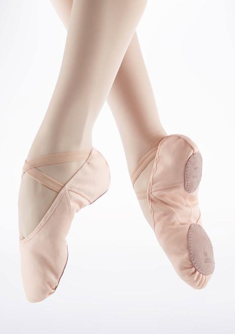 Zapatilla blanda de ballet con suela partida de Repetto Rosa. [Rosa]